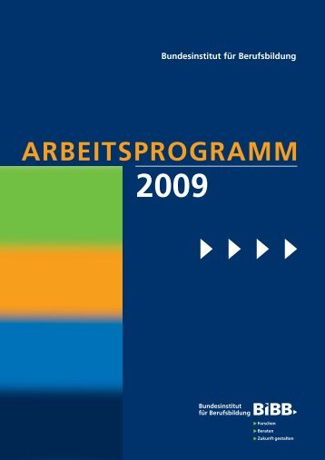 Arbeitsprogramm 2009 - BiBB