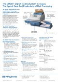 DM 300 Postage Meter Brochure - Pitney Bowes - Page 2