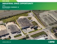 INDUSTRIAL SPACE OPPORTUNITY