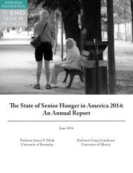 The State of Senior Hunger in America 2014 An Annual Report