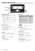 Kenwood DPX405BT - Car Electronics Czech (Quick Start Guide) () - Page 4
