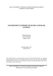 GOVERNMENT SUPPORT OF BANKS AND BANK LENDING