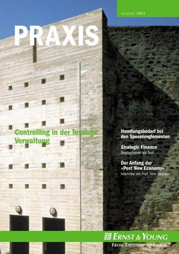 Praxis: Ausgabe August 2001 - Home - Ernst & Young - Schweiz