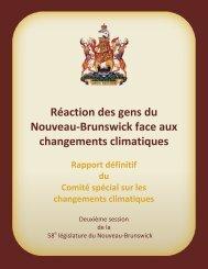 Réaction des gens du Nouveau-Brunswick face aux changements climatiques