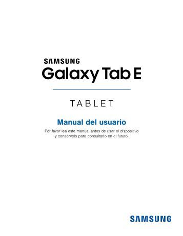 galaxy tab a user manual pdf