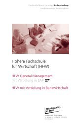 Höhere Fachschule für Wirtschaft (HFW) - KV Bildungsgruppe Schweiz