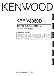 Kenwood KRF-V8080D - Home Electronics English (2004/3/5)