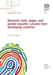 Domestic work wages and gender equality Lessons from developing countries