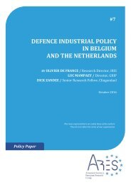 DEFENCE INDUSTRIAL POLICY IN BELGIUM AND THE NETHERLANDS