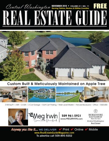 Central Washington Real Estate  Guide Magazine Nov 16