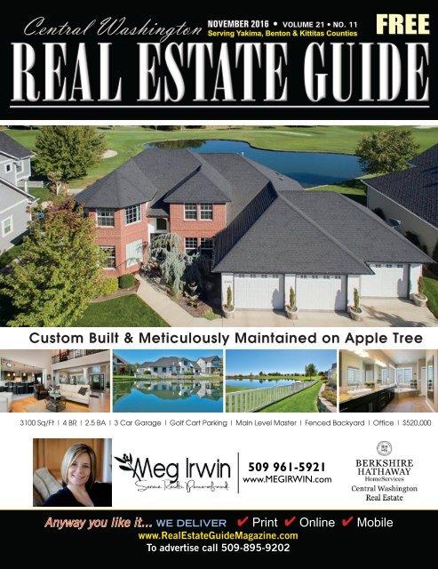 Central Washington Real Estate Guide Magazine Nov 16 on daylight basement house plans, best rambler home plans, lakefront house plans, large lodge style house plans, daylight ranch house plans,