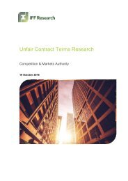 Unfair Contract Terms Research