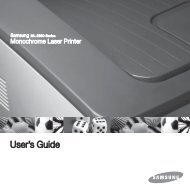 Samsung Black & White Laser Printer - ML-2851ND/XAA - User Manual (ENGLISH)