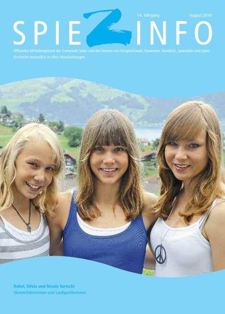 Rahel, Silvia und Nicole Turtschi Skirennfahrerinnen und