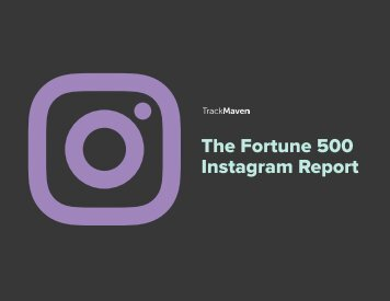 The Fortune 500 Instagram Report