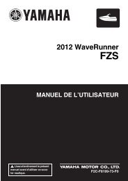 Yamaha FZS - 2012 - Manuale d'Istruzioni Français
