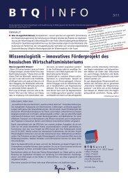 innovatives Förder projekt des hessischen ... - BTQ Kassel