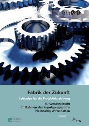 Leitfaden zur 5. Ausschreibung (Version 1.1) - Fabrik der Zukunft