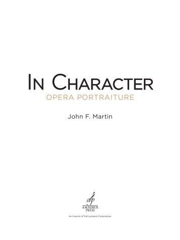 In Character: Opera Portraiture