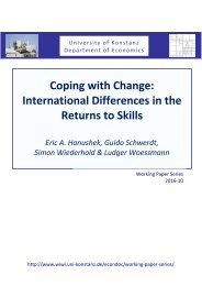 Coping with Change International Differences in the Returns to Skills