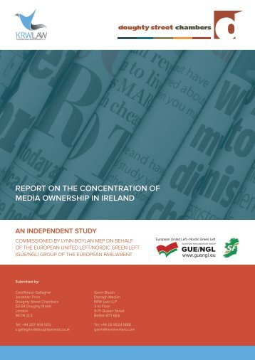 REPORT ON THE CONCENTRATION OF MEDIA OWNERSHIP IN IRELAND