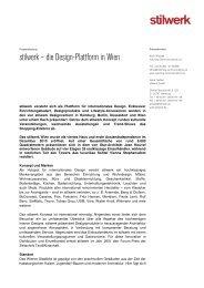 Basispressetext stilwerk Wien 2012