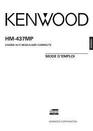 Kenwood HM-437MP - Home Electronics French, German, Dutch, Italian, Spanish (2004/10/7)