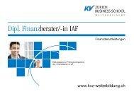 Dipl. Finanzberater / Finanzberaterin IAF - KV Zürich Business School