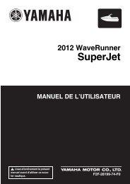 Yamaha Superjet - 2012 - Manuale d'Istruzioni Français