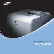 Samsung ML-3051N - ML-3051N/XAA - User Manual ver. 3.00 (ENGLISH,9.08 MB)