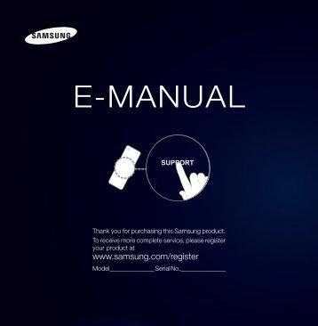 "Samsung LED FH6200 Series Smart TV - 60"" Class (60.0"" Diag.) - UN60FH6200FXZA - User Manual (ENGLISH)"
