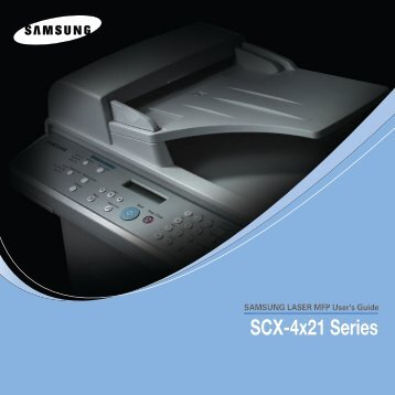 Samsung SCX-4521F - SCX-4521F/XAA - User Manual ver. 8.03 (ENGLISH,15.06 MB)