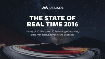 THE STATE OF REAL TIME 2016