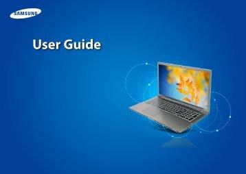 "Samsung Series 7 17.3"" Notebook - NP770Z7E-S01UB - User Manual (Windows 8) (ENGLISH)"