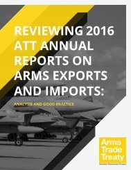 REPORTS ON ARMS EXPORTS AND IMPORTS