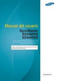 """Samsung 22"""" SA650 Series LED Monitor - LS22A650SEV/ZA - User Manual ver. 1.0 (SPANISH,5.92 MB)"""