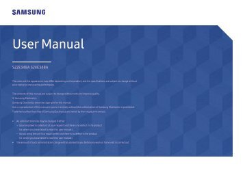 "Samsung Samsung 24"" LED Monitor - LS24E348ASX/ZA - User Manual (ENGLISH)"