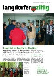 Farbige Welt der Reptilien im «Kanti-Zoo» - Quartierverein Langdorf