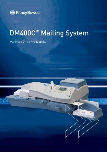 DM400C™ Mailing System - Pitneybowes.cz