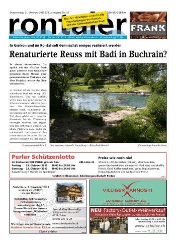 In Gisikon und im Rontal soll demnächst einiges - Regionalzeitung ...