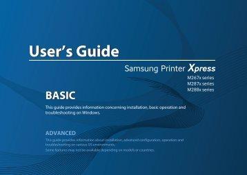 Samsung MultifunctionPrinter Xpress M2875DW - SL-M2875DW/XAC - User Manual ver. 1.0 (ENGLISH,20.9 MB)