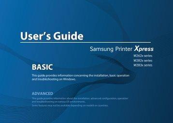 Samsung Printer Xpress M2825DW - SL-M2825DW/XAC - User Manual (ENGLISH)