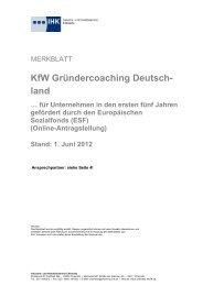 Gründercoaching Deutschland - IHK Chemnitz - IHK24