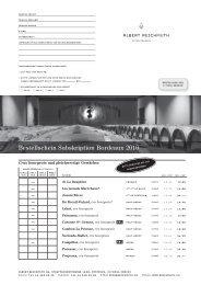 Bestellschein Subskription Bordeaux 2010 - Albert Reichmuth AG