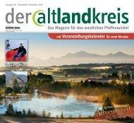 Altlandkreis Ausgabe November/Dezember 2016 - Das Magazin für den westlichen Pfaffenwinkel