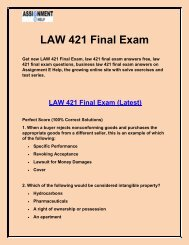 LAW 421 Final Exam - law 421 final exam answers   Assignment E Help