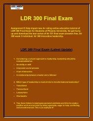 LDR 300 Final Exam  |  ldr 300 week 3 individual - Assignment E Help