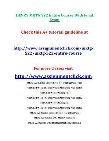 mktg 522 week 3 quiz 1answers Answer to quiz marketing 522 week 3pdf free pdf download now source #2: answer to quiz marketing 522 week 3pdf  free essays on mktg.