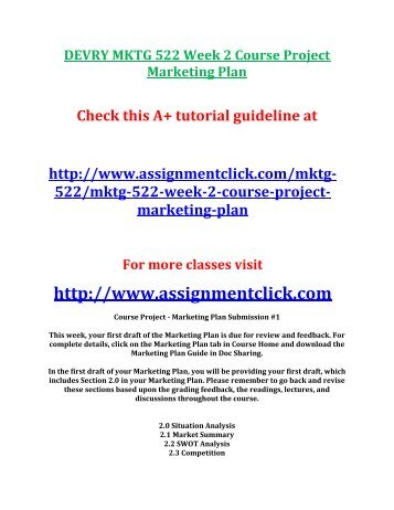 mktg 522 week 3 quiz 1answers The clep principles of marketing exam covers material that is usually taught in a one-semester introductory course in marketing  and marketing week can be found.