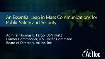 An Essential Leap in Mass Communications for Public Safety and ...